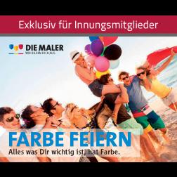 """Nachwuchsflyer """"Farbe feiern"""""""