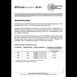 BFS-Information 05-01 - Raufaserkörnungen