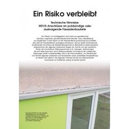 Hinweise - WDVS-Anschlüsse an putzbündigen oder auskragenden Fassadenbauteilen