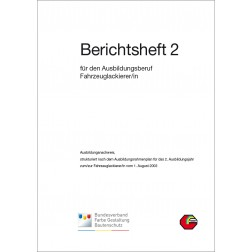 Berichtsheft 2. Ausbildungsjahr, Blattsammlung - Fahrzeuglackierer