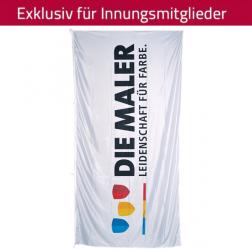 Hochformatflagge Maler