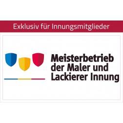Transfer-/Übertragungsfolie Maler - Meisterbetrieb 21x11,5 cm