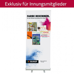 "RollUp-System ""Farbe bekennen"" 85 x 200 cm (personalisiert)"