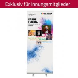 "RollUp-System ""Farbe feiern"" 85 x 200 cm (personalisiert)"