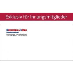Fensterbriefumschlag, DIN lang (personalisiert)