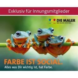 Kampagnen Postkarten - Farbe ist social