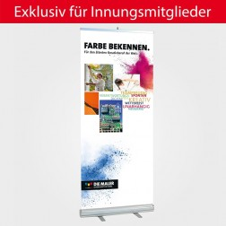 """RollUp-System """"Farbe bekennen"""" 85 x 200 cm"""