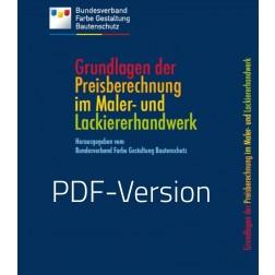 """Buch """"Die Grundlagen der Preisberechnung im Maler- und Lackiererhandwerk"""" (DOWNLOAD)"""