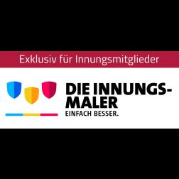 """Logo """"Innungsmaler – einfach besser"""""""