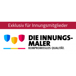 "Logo ""Innungsmaler – kompromisslos Qualität"""