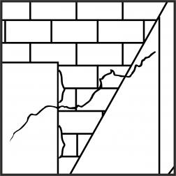 MB Nr. 19.1 - Risse in unverputztem und verputztem Mauerwerk, in Gipskartonplatten und ähnlichen Stoffen auf Unterkonstruktionen; Ursachen und Bearbeitungsmöglichkeiten (Stand: 1991)